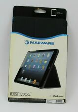 Marware Ipad Mini 1 Microshell Folio Case Cover W/Elastic Strap Sleep/Awake Blue
