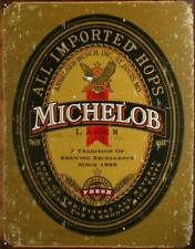Michelob Beer Logo Vintage Retro Tin Metal Sign 13 x 16in