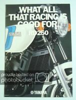 YAMAHA RD250 MOTORCYCLE Sales Brochure c1980 #LIT-3MC-0107466-80E
