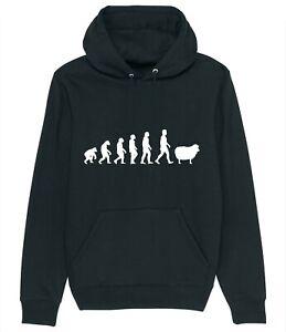 Evolution of a Sheep Farmer Shepherd Man Hoodie