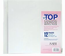 MBI 12x12 White Scrapbook Refill Pages (Same Shipping Any Qty)