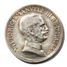 Italy Vittorio Emanuele III Quadriga 1 Lira 1916 R Silver Coin KM-57 Unc