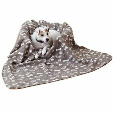 Large Super Soft Pet Dog Puppy Fleece Bed Bedding Travel Crate Mat Throw Blanket