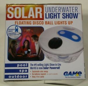 Solar Light Underwater Show Floating Water Party Fun Game (White/Clear)