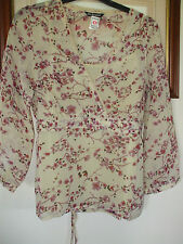 Marks and Spencer 3/4 Sleeve Hip Length Floral Women's Tops & Shirts
