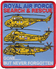 Royal Force Air Search & Rescue Sar Gone but Never Forgotten Embroidered Patch