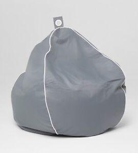 Chillizone Indoor/Outdoor Bean Bag Grey/White