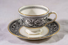 WEDGWOOD FLORENTINE (BLACK WITH DRAGONS) FOOTED CUP WITH SAUCER