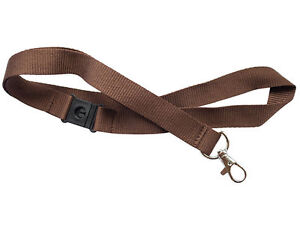 1 x 20mm Neck Lanyard with Safety Break & Zinc Metal clip - Choose Color