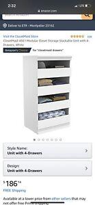 ClosetMaid 4561 Modular Closet Storage Stackable Unit (Unit with 4-Drawers)