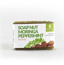 Soap Nut & Moringa Peppermint Bar Soap, 5 ounces, Helps Heal Skin Problems