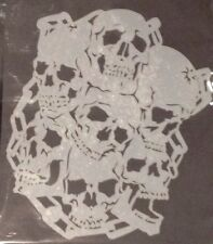 7 Skulls With Chain Design reusable Mylar stencil For Airbrush design art tattoo