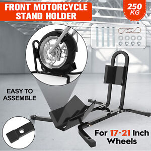 """Front Wheel Motorcycle Motorbike Stand Holder Metal Support Chock Stay 17""""-21"""""""