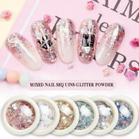 Nail Flakes - Mirror Chrome Powder Mermaid Holographic Broken Glass