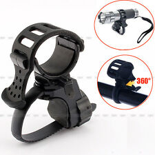 360 Degree Bicycle Bike Cycling Mount Holder For LED Flashlight Clamp Torch Clip