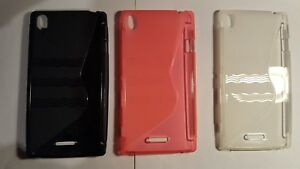 TPU silicone gel rubber phone case cover to fit Sony Xperia T3 D5102 D5103 D5106