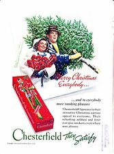 1938-1939 Lot Vintage Magazine Tobacciana Ads ~ Chesterfield Cigarettes