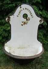 New listing Vintage/Antique German Cast Iron/Porcelain Wall Fountain Water Garden Drinking