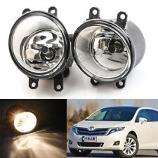 Pair For Toyota Venza 2009-2015 Clear Len Replacement Fog Light Housing Assembly
