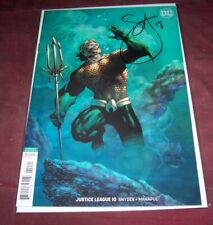 Justice League #10B Aquaman Variant Auto Scott Snyder
