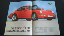 1990 Orig. Porsche 911 964 Carrera 2 / 4 RUF Prospekt Brochure