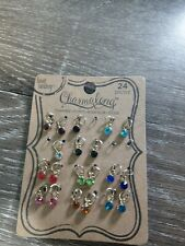 New Bead Landing Charmalong Gold Birthstones Crystal Drop Charms. Missing 4.