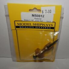 "Model Shipways Pedestal 1 1/8"", 3/16"" Slot #MS0812 NIP"