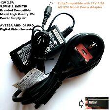 12V Power Adapter for AVEESA AHD-104 PRO Digital Video Recorder