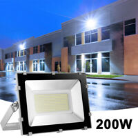 LED Flood Light For Outdoor Garden Security Yard Park Lighting Lamp 200 W 6500K