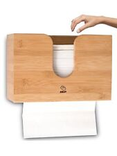 Paper Towel Dispenser Bamboo For Bathroom Decor - Countertop Paper Towel Holder