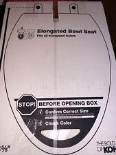 KOHLER Rutledge Elongated Quiet-Close Closed Front Toilet Seat in White