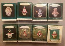 1995-2002: Lot of 8 Hallmark Miniature Christmas Bells Ornaments Nib Smoke-free