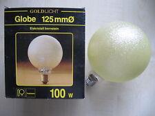 Paulmann globe E27 100W G125 craquelé BRONZE LAMPE cristal de glace ambre jaune
