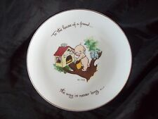 """Kewpie collectors Plate~""""To the house of a friend.the Way is Never Long"""""""