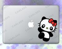 Hello Kitty Panda (A) Color Vinyl Sticker for Macbook Air/Pro