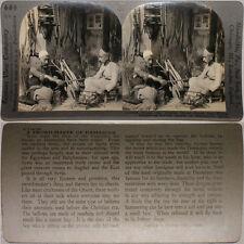 Keystone Stereoview Damascan Sword Maker, Damascus, SYRIA From 600/1200 Card Set