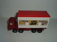 MATCHBOX ENGLAND SCAMMELL CONTAINER TRUCK LONDON GENEVA SEE THE  PICTURES
