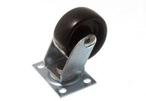 4 Paquet Meuble Roulette Pivotant Plaque 40MM Roues 4D3
