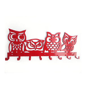 Pets 4 Owls Bird Key Holder Wall Mount Hooks Store Storage Hanging Hanger Home
