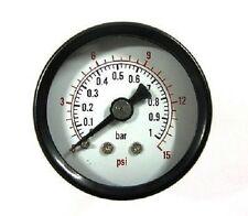 Air Pressure Gauge 1/8 bsp Rear Entry 40mm dial 0-15psi-1 bar