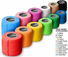 """14 rolls 15 feet Self Adhesive Non Woven Bandage Wrap Breathable,  2"""" x 5 Yards"""
