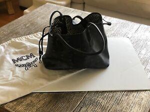 MCM Black Reversible Medium Tote Handbag