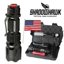 Super-bright Flashlight 20000LM LED Rechargeable Shadowhawk Tactical Torch 18650