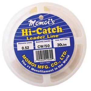 Momoi Hi-Catch Nylon Monofilament Leader-100 Yds, 250 Lb., Clear White
