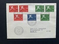 Fussball - WM - Beleg WM 1958 in Schweden - FDC Stockholm 08.05.1958 (V)