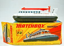 "MATCHBOX SF N. 72b hovercraft 1. piastra di base con ""No. 72 srn6 hovercraft"" in box"