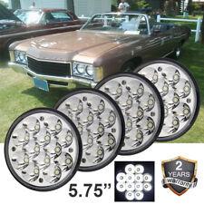 "4X 5-3/4 5.75"" Cree LED Light Blubs Crystal Clear Sealed Beam Headlamp Headlight"