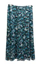 Windsmoor women's fully lined long skirt, Blue Multi Size 10