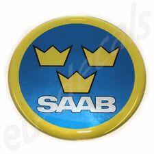 50mm/2.00inc.SAAB Swedish Air Force Aero Hood Emblem Badge 9-5 9-3 93 3D decal