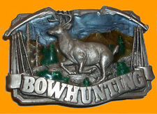 Buckle Bow Hunting Vintage USA Made Deer Elk Buck Hunter Bowhunting